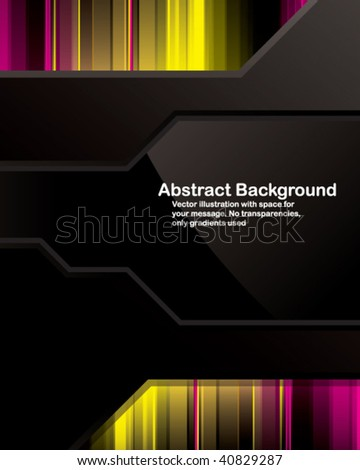 Vector. Clean background design with glossy elements. No transparencies, only gradients used - stock vector