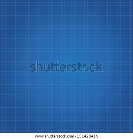 Vector clean blueprint background. Technical background with space for your content. - stock vector