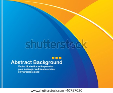Vector. Clean design with space for your message. No transparencies, only gradients used - stock vector