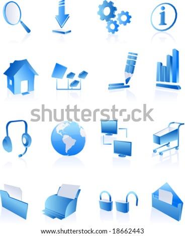 Vector Clip Art Icons Symbols Websites Stock Vector 18662446 ...