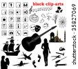 vector clip-arts collection - stock photo