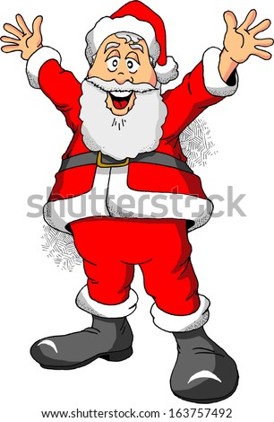 Vector Clipart Illustration of An Excited Santa