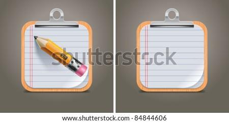 Vector clipboard square icon - stock vector