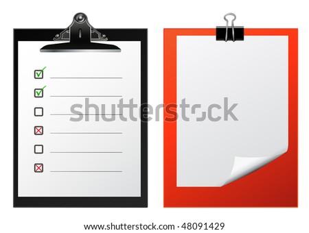 vector clipboards - stock vector