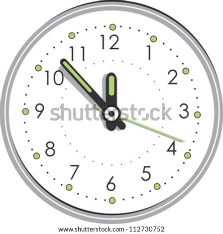 Vector clock - stock vector