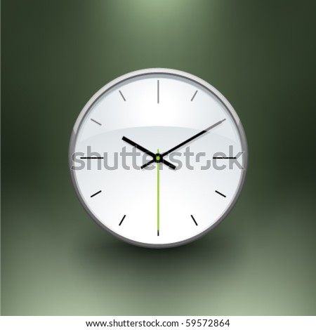 Vector clock - stock vector