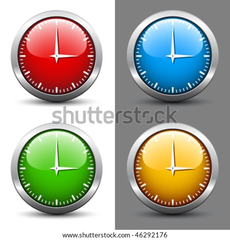 vector clock faces - stock vector