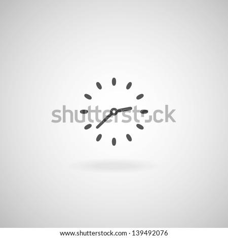 Vector Clock, Timer - stock vector