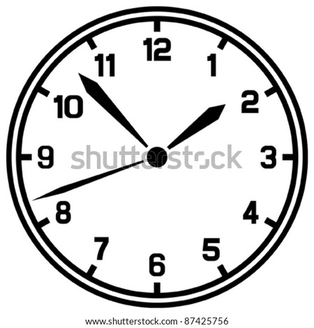 Vector clock (Timer) - stock vector