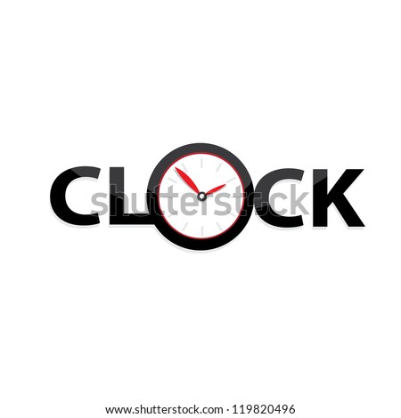 vector clocks Icon. black clock. - stock vector