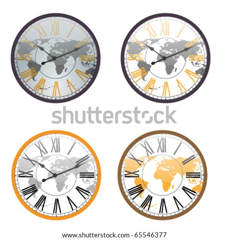 Vector Clocks Isolated on White