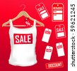 vector clothes labels  sale set - stock photo