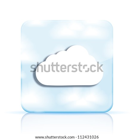 Vector cloud app icon on white background. Eps10 - stock vector