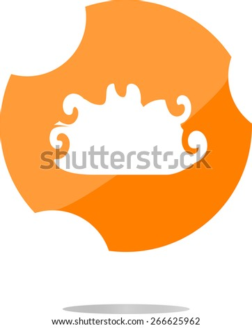 vector cloud button, web icon isolated on white - stock vector