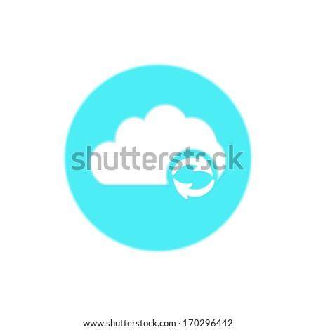 Vector cloud computing refresh | update icon - stock vector