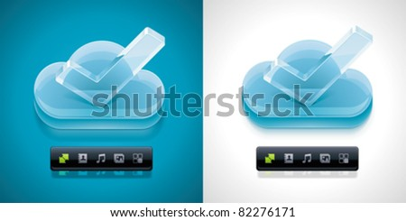 Vector cloud computing XXL icon	 - stock vector