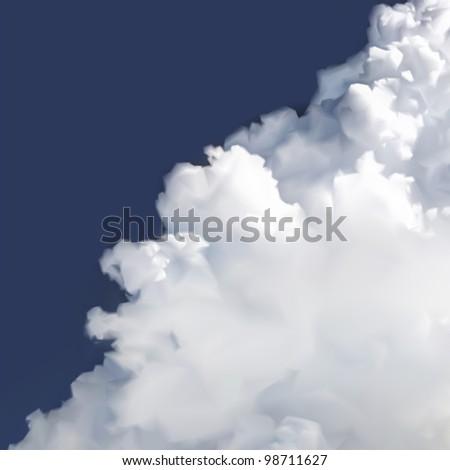 Vector Cloud in sky. Vector - stock vector