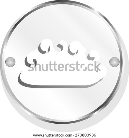 vector cloud web icon button - stock vector