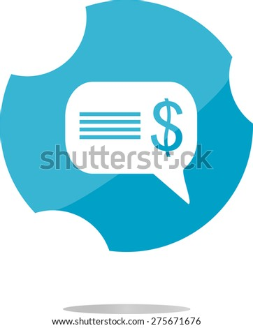 vector cloud with dollars usd sign icon. Briefcase button - stock vector