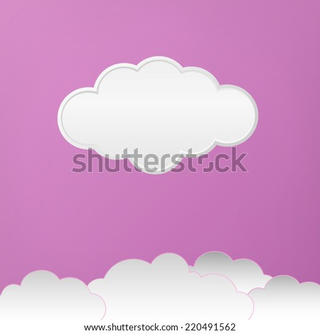 Vector cloud with purple background