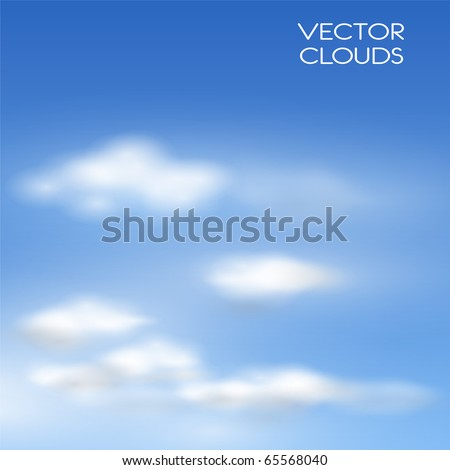 Vector clouds realistic illustration. - stock vector