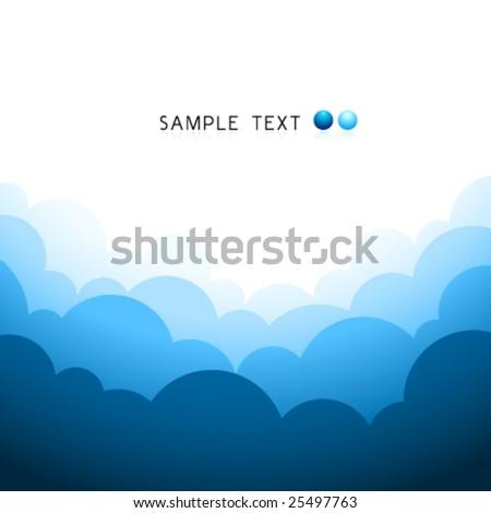 Vector Cloudy Design - stock vector