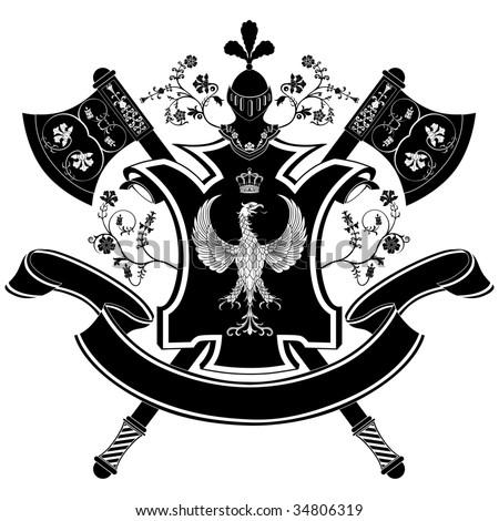 Vector coat of arms - stock vector