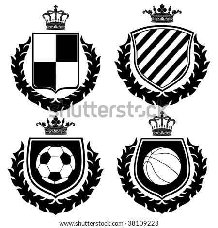 Vector coat of arms. - stock vector