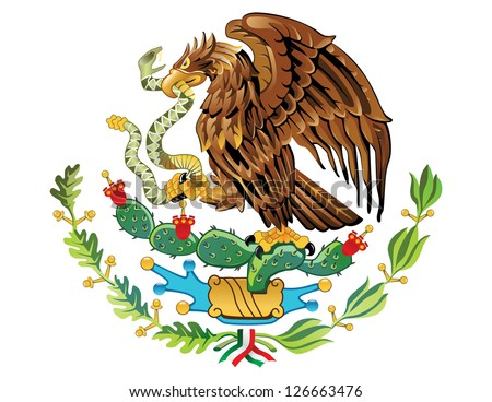 Vector Coat of arms of Mexico