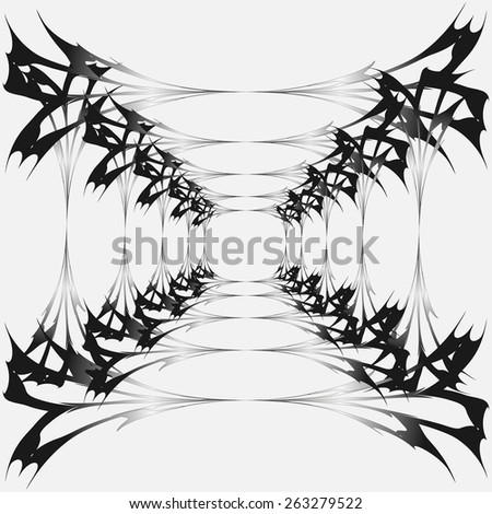 Vector cobweb, corridor. Dark halloween. - stock vector