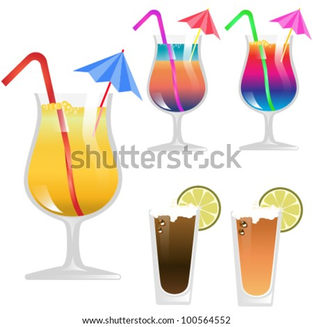 Vector Cocktail Glass - stock vector
