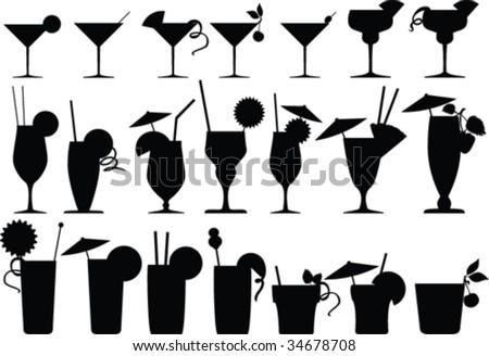 Vector cocktails - stock vector