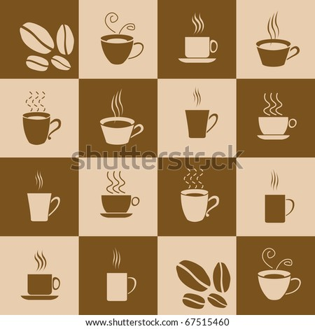 Vector Coffee Background - stock vector