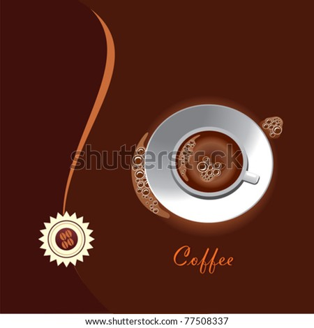 vector: coffee cup - stock vector