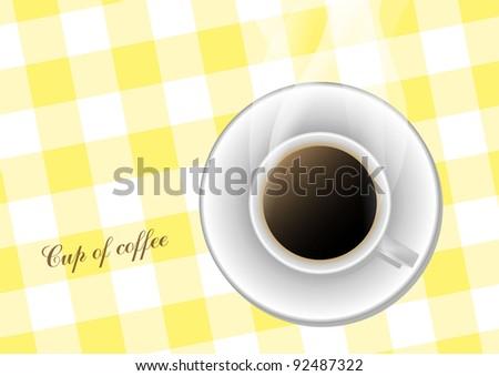 Vector coffee cup - stock vector