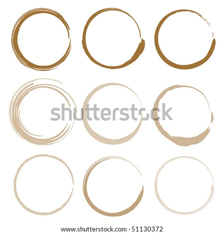 Vector coffee stains - stock vector