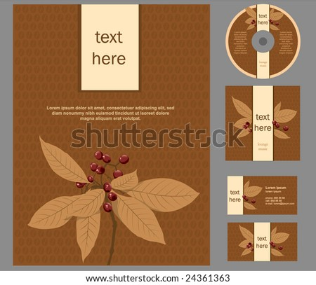 vector coffee style - stock vector