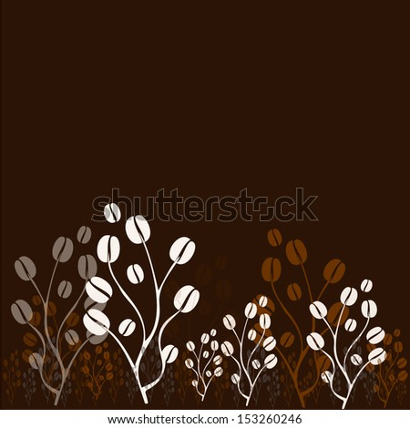 vector coffee tree with coffee beans - stock vector