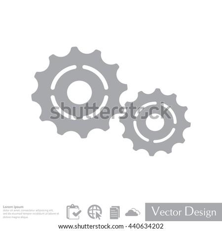 Vector Cog Settings Icon Symbol - stock vector