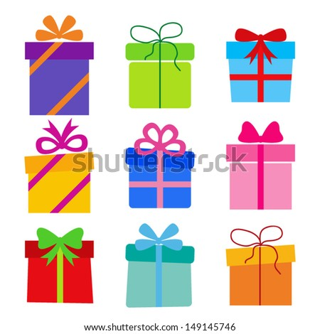 vector collection: gift boxes - stock vector