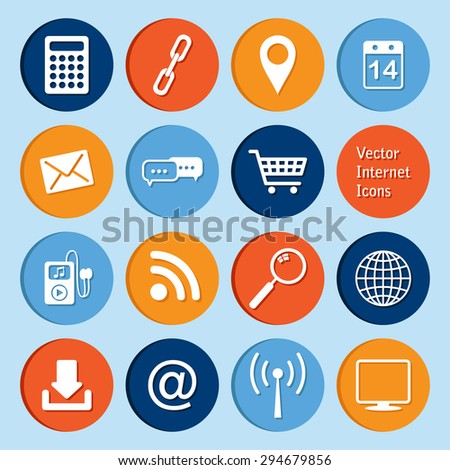 vector collection: internet icons - stock vector