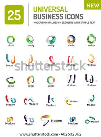 Vector collection of abstract company logo design concepts - stock vector