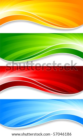 Vector collection of banners  - stock vector