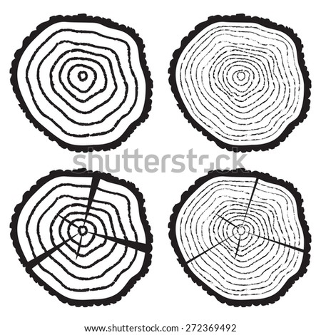 Tree Log Drawing Wooden Cut of a Tree Log