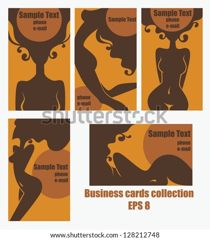 Vector collection business cards beauty salon stock vector 128212748 vector collection of business cards for beauty salon hairdressers solarium or plastic surgery reheart Gallery