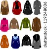 vector collection of clothes - stock vector