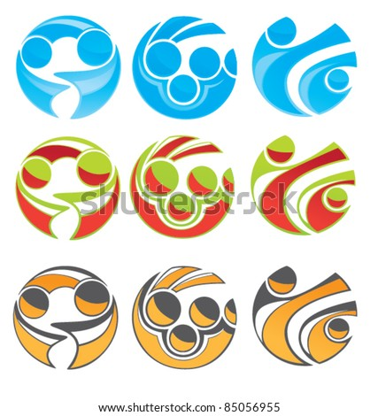 vector collection of community symbol, business team and success - stock vector