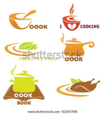 vector collection of cooking symbols - stock vector