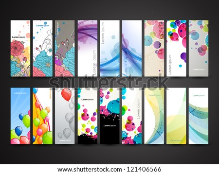 Vector Collection of Decorative Horizontal Banners - stock vector