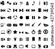 Vector collection of different music themes icons - stock vector